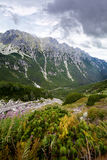Mountain landscape. Summer mountain landscape in the Polish Tatry stock images