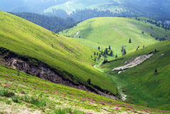 Mountain landscape. Landscape view from the top of the mountain Stock Photos