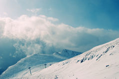 Mountain landscape. In winter time Stock Photos