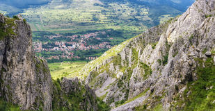 Mountain landscape. Rimetea beautiful view of Transylvania rock Royalty Free Stock Photography
