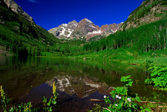 Maroon Bells at Maroon Lake Royalty Free Stock Photo