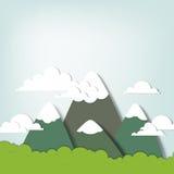 Mountain landscape. Creative vector applique royalty free illustration