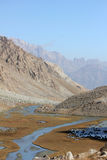 Mountain landscape. The beautiful mountain landscape in central asia. Tadzhikistan Royalty Free Stock Image