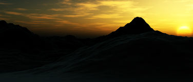 Mountain Landscape 4. An image of some mountains, with sky in the background Royalty Free Stock Photography