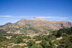 Mountain Landscape. Madonie sicily mountains landscape with clouds Royalty Free Stock Images