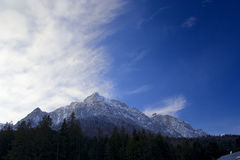 Mountain landscape. Mountain snowcovered  on a summer day Royalty Free Stock Photos
