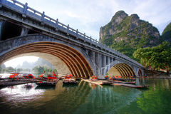 Mountain landscape. Li river karst mountain landscape in Yangshuo, China Royalty Free Stock Photos