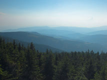 Mountain landscape. View from top of a mountain stock images