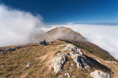 Mountain landscape above the clouds Royalty Free Stock Photography