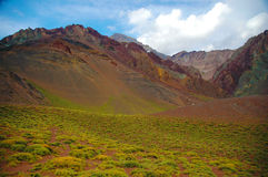Mountain Landscape at Aconcagua summit Royalty Free Stock Image
