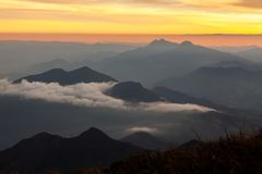 Mountain landscape at afternoon - sunset stock image
