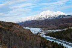 Mountain Landscape. A mountain landscape in Alaska on a spring day Royalty Free Stock Photos