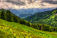 Mountain landscape in the Allgäu Royalty Free Stock Photos