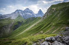 Mountain landscape of the Allgau Alps. In Bavaria, Germany Royalty Free Stock Photos