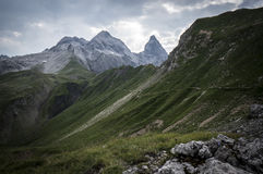 Mountain landscape of the Allgau Alps. In Bavaria, Germany Royalty Free Stock Image