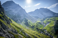 Mountain landscape of the Allgau Alps. In Bavaria, Germany Royalty Free Stock Photo