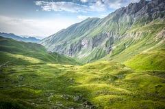 Mountain landscape of the Allgau Alps. Mountain landscape near Hermann von barth hut of the Allgau Alps in Bavaria, Germany Stock Photo