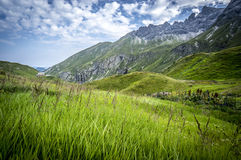 Mountain landscape of the Allgau Alps. Mountain landscape near Hermann von barth hut of the Allgau Alps in Bavaria, Germany Stock Images