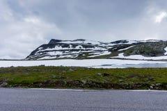 Mountain landscape along the National tourist route Aurlandstjel Stock Photography