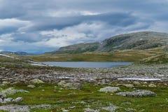 Mountain landscape along the National tourist route Aurlandstjel Stock Image