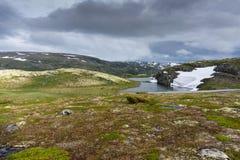 Mountain landscape along the National tourist route Aurlandstjel Stock Images