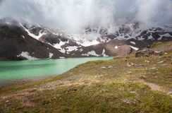 Mountain landscape with alpine lake Royalty Free Stock Photography