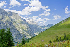 Mountain landscape on alps with beautiful panorama Stock Image