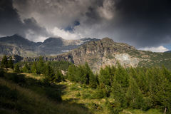 Mountain landscape in Alps Royalty Free Stock Image