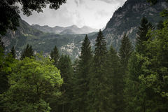 Mountain landscape in Alps Royalty Free Stock Photo