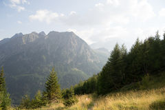 Mountain landscape in Alps Stock Images