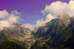 Mountain. Landscape of mountain alps in Italy Stock Images