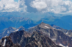 Mountain landscape from Aneto Peak,  Huesca, Aragon, Pyrenees, Spain Stock Photo