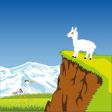 Mountain landscape with animal Royalty Free Stock Photos