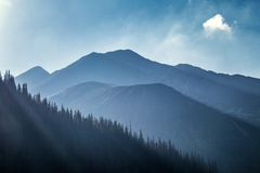 Mountain landscape, the area of Rohace in Tatras National Park. stock images
