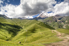 Mountain landscape around Kazbegi. Mountain landscape around the village of Kazbegi, Georgia Royalty Free Stock Photo