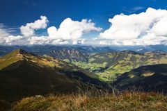 Mountain landscape in Austria Stock Photo