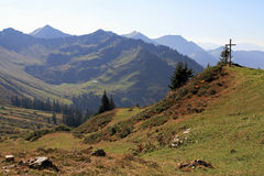 A mountain landscape in Austria Stock Images