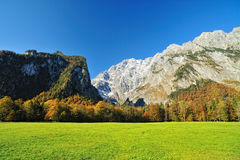Mountain landscape in Austria Alps in autumn Royalty Free Stock Photography