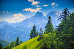Mountain landscape, Austria Stock Photo