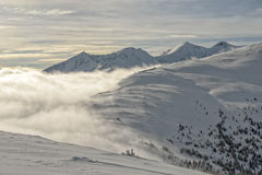Mountain landscape in Austrian Alps Stock Images