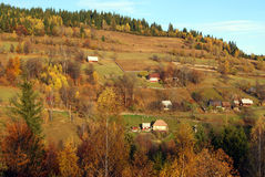 Mountain landscape in autumn Stock Photography