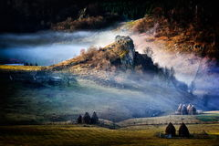 Mountain landscape in  autumn morning  - Fundatura Ponorului, Ro Stock Photography