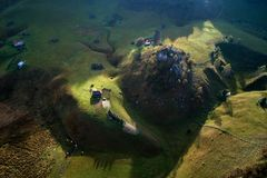 Mountain landscape in autumn morning - Romania Royalty Free Stock Photo