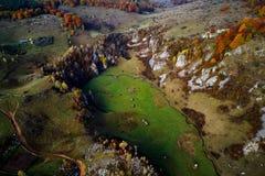 Mountain landscape in autumn morning - Romania Stock Photography