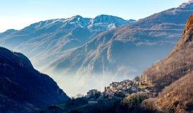 Mountain Landscape in autumn season stock photography