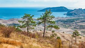 Mountain landscape background. And sea Stock Photography