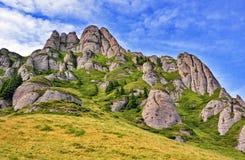 Mountain landscape. Beautiful carpathian mountain landscape in Romania Stock Photos