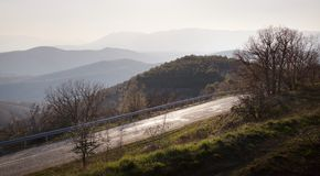 Mountain landscape. Mountain beautiful landscape and roads Stock Images