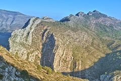 Bernia Mountains in Alicante. Spain Royalty Free Stock Photo