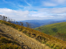 Mountain Landscape - Bieszczady, Poland Royalty Free Stock Photos